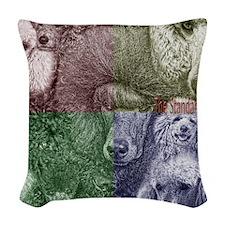 FBPoodlegroupcollage2 Woven Throw Pillow