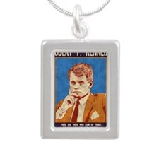 rfk-LG Silver Portrait Necklace