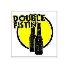 "2-DoubleFisting Square Sticker 3"" x 3"""