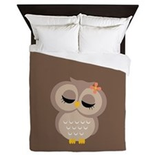 Single Owl Queen Duvet