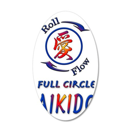 full circle aikido roll 35x21 Oval Wall Decal
