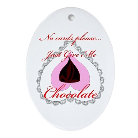 Valentine Chocolate Oval Ornament