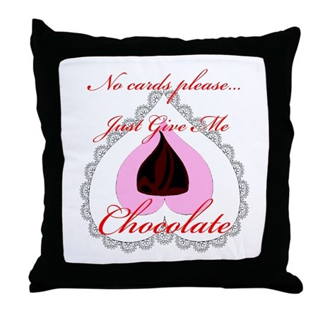 Valentine Chocolate Throw Pillow
