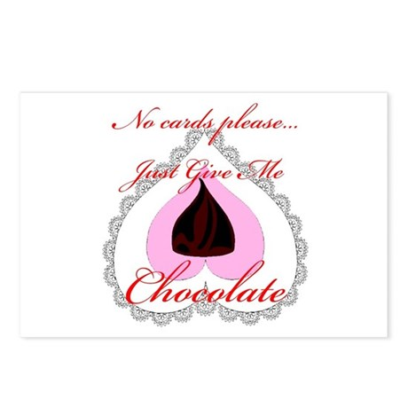 Valentine Chocolate Postcards (Package of 8)