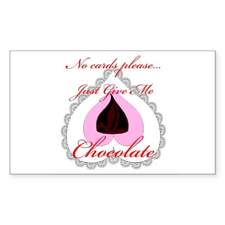 Valentine Chocolate Rectangle Sticker