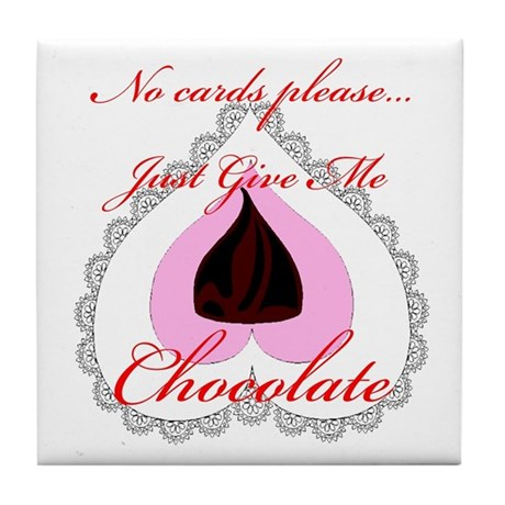 Valentine Chocolate Tile Coaster