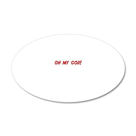 omgcarewh 20x12 Oval Wall Decal