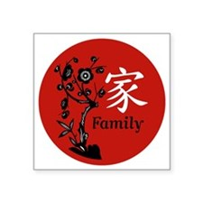 "Family Square Sticker 3"" x 3"""