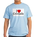 """I Love Grenada"" Ash Grey T-Shirt"