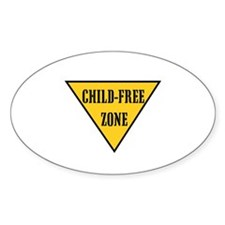 Child-Free Zone Oval Decal