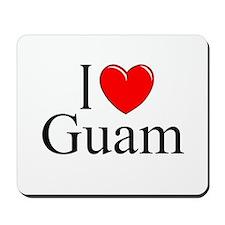"""I Love Guam"" Mousepad"