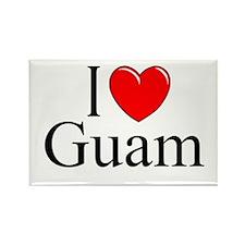 """I Love Guam"" Rectangle Magnet"