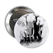 "elephats_mom_baby 2.25"" Button"