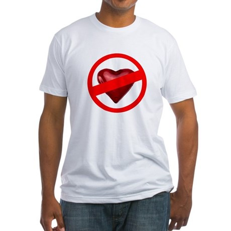 No Love Fitted T-Shirt