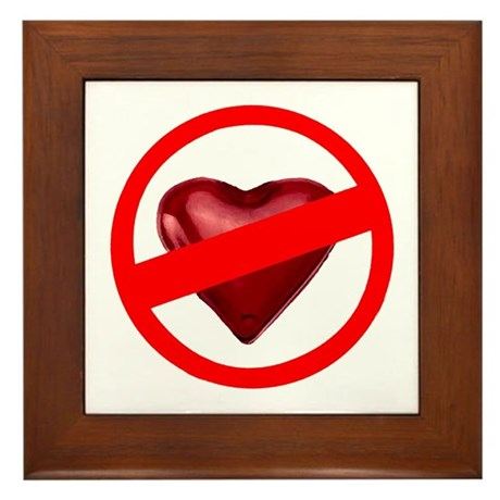 No Love Framed Tile