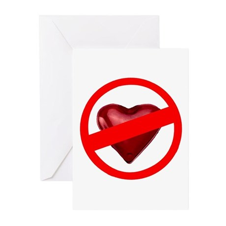No Love Greeting Cards (Pk of 10)