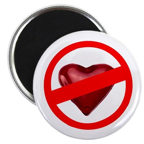 "No Love 2.25"" Magnet (100 pack)"
