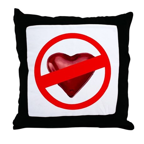 No Love Throw Pillow
