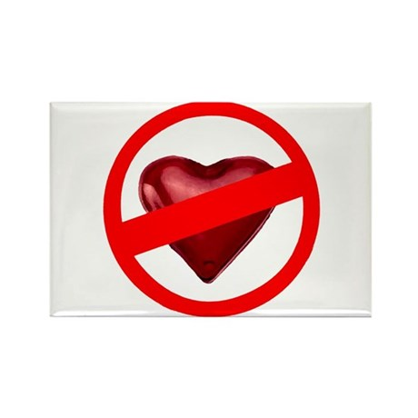 No Love Rectangle Magnet