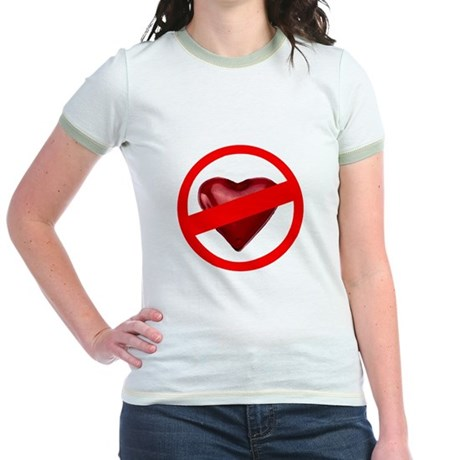No Love Jr. Ringer T-Shirt