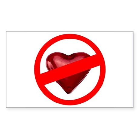 No Love Rectangle Sticker