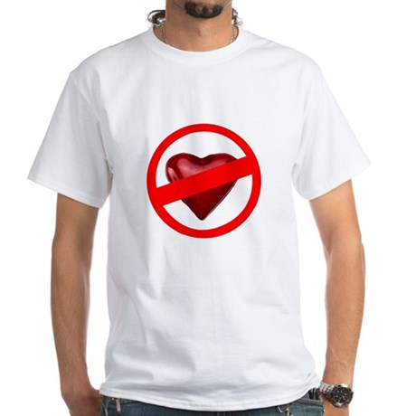 No Love White T-Shirt