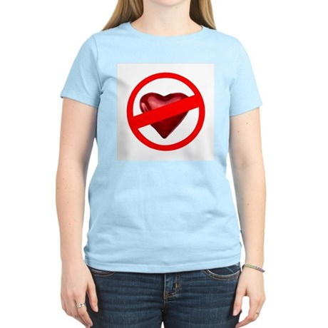No Love Women's Pink T-Shirt
