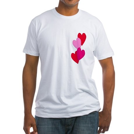 Candy Hearts Fitted T-Shirt