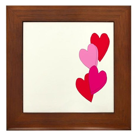 Candy Hearts Framed Tile