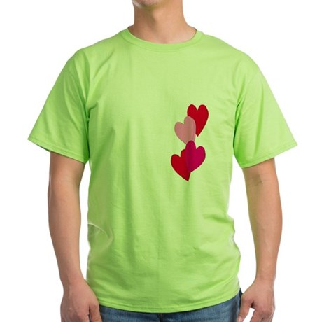 Candy Hearts Green T-Shirt