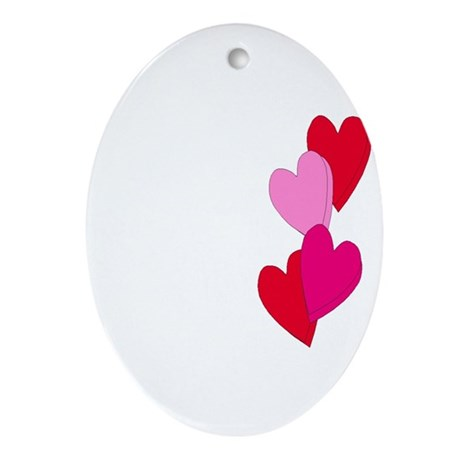 Candy Hearts Oval Ornament