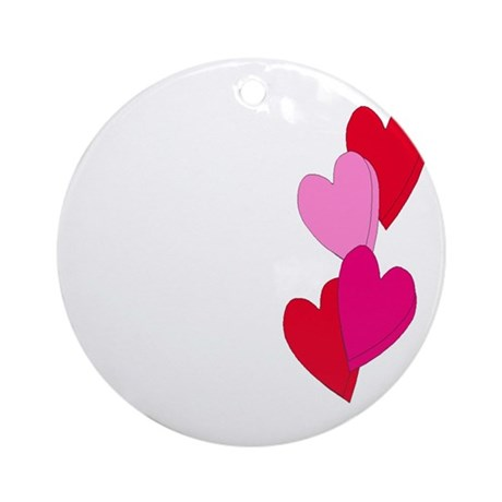 Candy Hearts Ornament (Round)