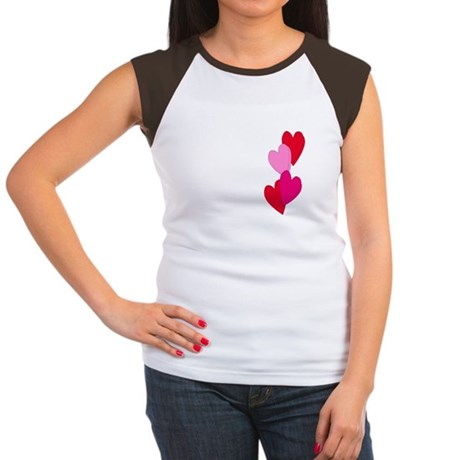 Candy Hearts Women's Cap Sleeve T-Shirt