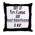 Faux Klingons Throw Pillow