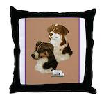 Australian Shepherd Pair Throw Pillow