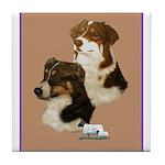 Australian Shepherd Pair Tile Coaster