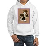 Australian Shepherd Pair Hooded Sweatshirt