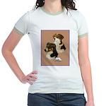 Australian Shepherd Pair Jr. Ringer T-Shirt