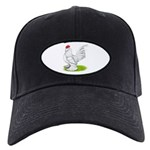 White d'Uccle Rooster Black Cap