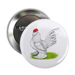 White d'Uccle Rooster Button
