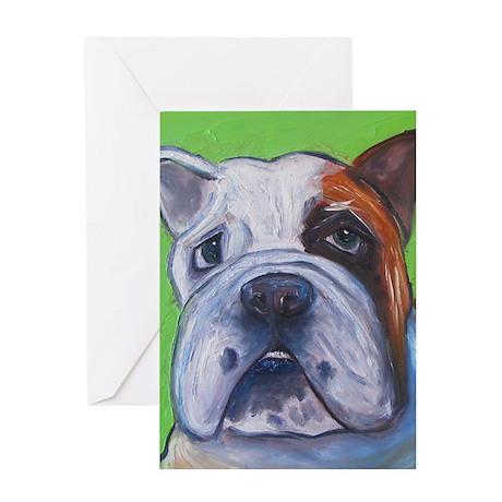 green bullie5x7 Greeting Card