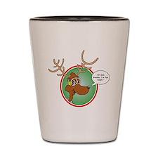 Grandma Got Run Over by a Reindeer Shot Glass