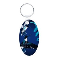 two blue Hummingbirds Poste Keychains