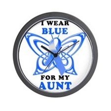 I Wear Blue for my Aunt Wall Clock