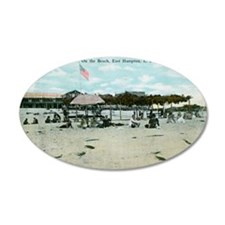 East Hampton beach vintage p Wall Decal