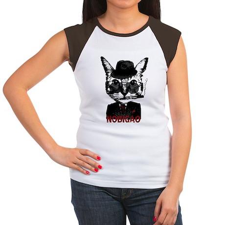 Cat Gangster Women's Cap Sleeve T-Shirt