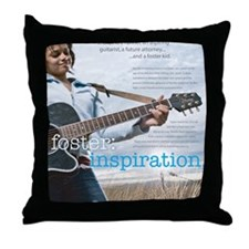 2-poster_sharde Throw Pillow