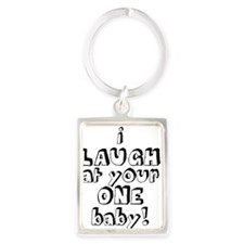 laughatone copy Portrait Keychain