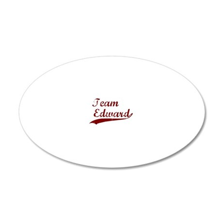 Team Edward bloodred transba 20x12 Oval Wall Decal