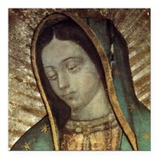 "Our Lady of Guadalupe -  Square Car Magnet 3"" x 3"""